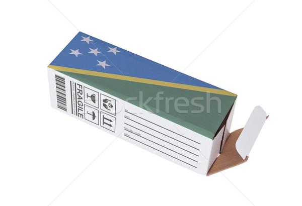 Exportar producto Islas Salomón papel cuadro Foto stock © michaklootwijk