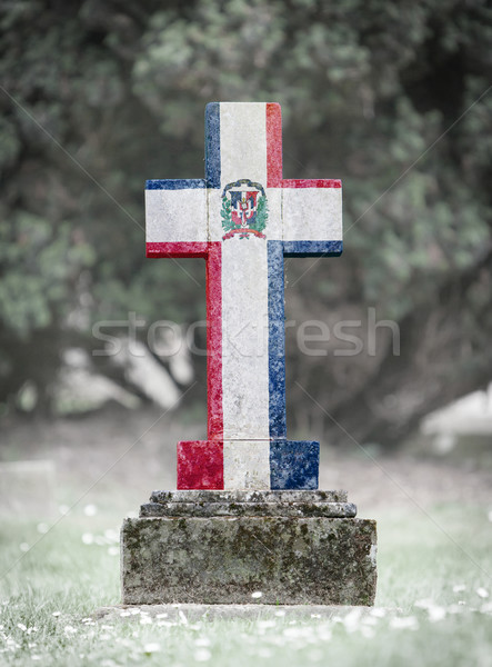 Gravestone in the cemetery - Dominican Republic Stock photo © michaklootwijk