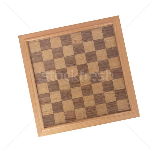 Empty wood chessboard Stock photo © michaklootwijk