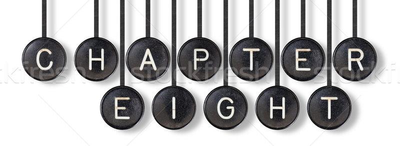Daktilo düğmeler yalıtılmış bölüm sekiz beyaz Stok fotoğraf © michaklootwijk