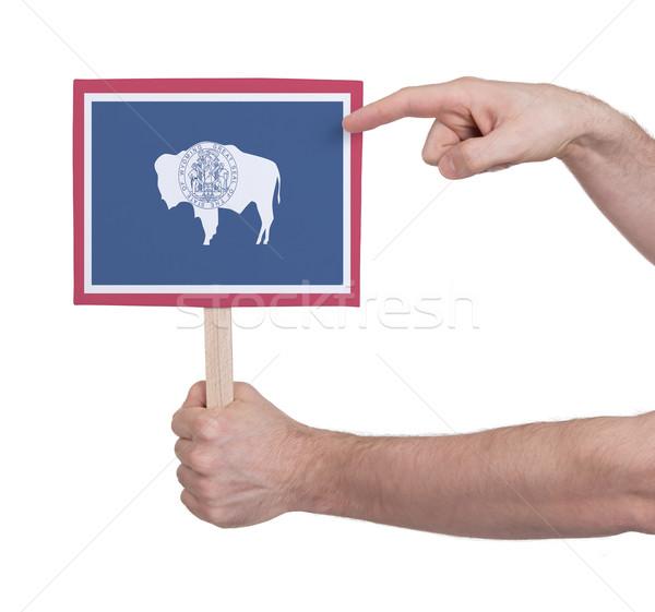 Mano pequeño tarjeta bandera Wyoming Foto stock © michaklootwijk