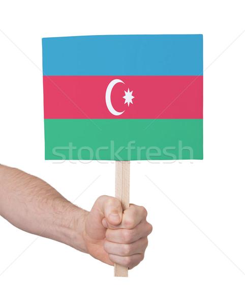 Mão pequeno cartão bandeira Azerbaijão Foto stock © michaklootwijk