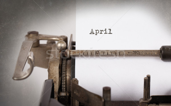 Old typewriter - April Stock photo © michaklootwijk