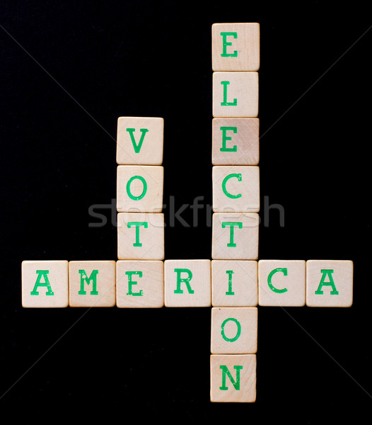 Letters on wooden blocks (America, vote, election) Stock photo © michaklootwijk