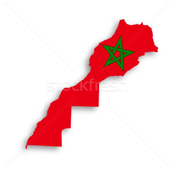 Marrocos mapa bandeira dentro isolado textura Foto stock © michaklootwijk