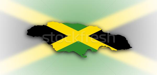 Stockfoto: Nigeria · kaart · vlag · binnenkant · geïsoleerd · witte