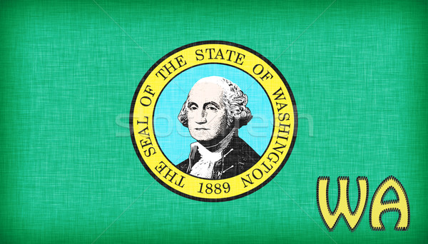 Linen flag of the US state of Washington Stock photo © michaklootwijk