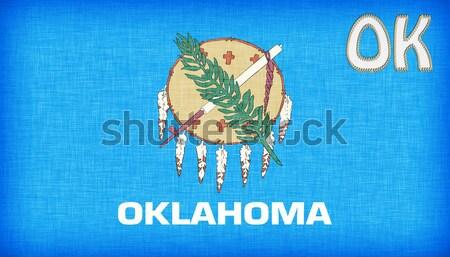 Choro mulher dor dor bandeira Oklahoma Foto stock © michaklootwijk