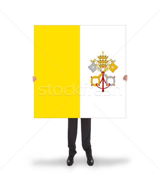 бизнесмен большой карт флаг Ватикан Сток-фото © michaklootwijk