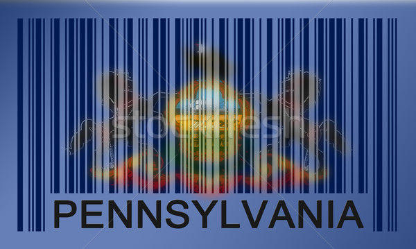 Barcode vlag Pennsylvania geschilderd oppervlak ontwerp Stockfoto © michaklootwijk