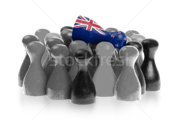 Bir üst bayrak Yeni Zelanda Stok fotoğraf © michaklootwijk