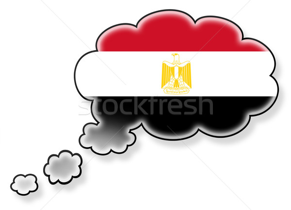Flag in the cloud, isolated on white background Stock photo © michaklootwijk