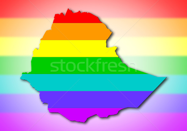 Ethiopia - Rainbow flag pattern Stock photo © michaklootwijk