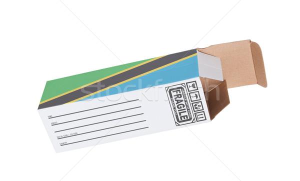 Exporter produit Tanzanie papier boîte Photo stock © michaklootwijk