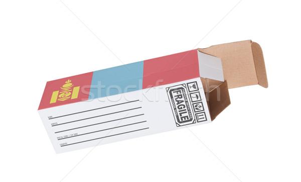 Exporter produit Mongolie papier boîte Photo stock © michaklootwijk