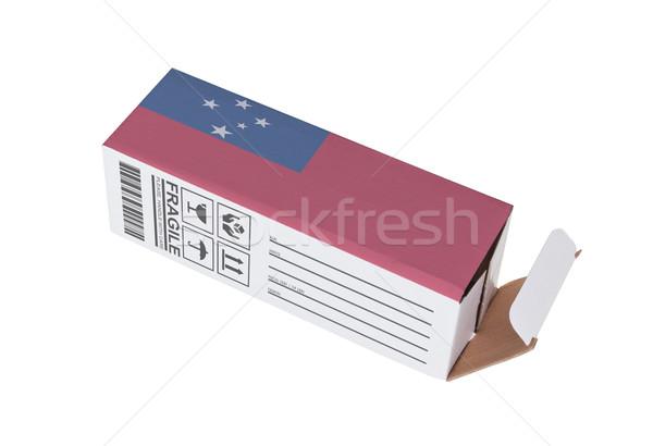 Eksport produktu Samoa papieru polu Zdjęcia stock © michaklootwijk