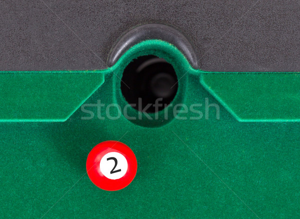 Piros snooker labda szám ősz asztal Stock fotó © michaklootwijk
