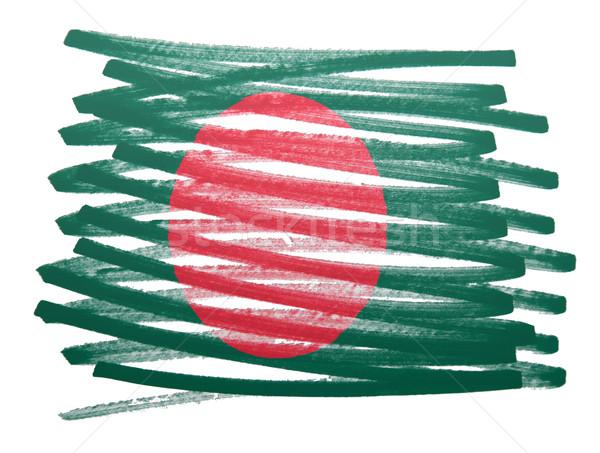 Bayrak örnek Bangladeş kalem iş boya Stok fotoğraf © michaklootwijk