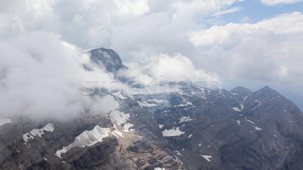 Kilátás gleccser víz jég vízesés hegyek Stock fotó © michaklootwijk