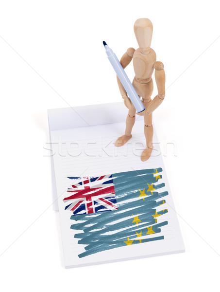 Manequim desenho Tuvalu bandeira papel Foto stock © michaklootwijk