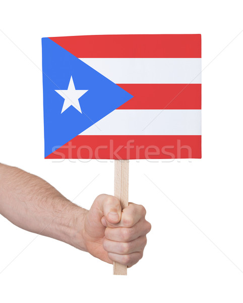 Hand klein kaart vlag Puerto Rico Stockfoto © michaklootwijk