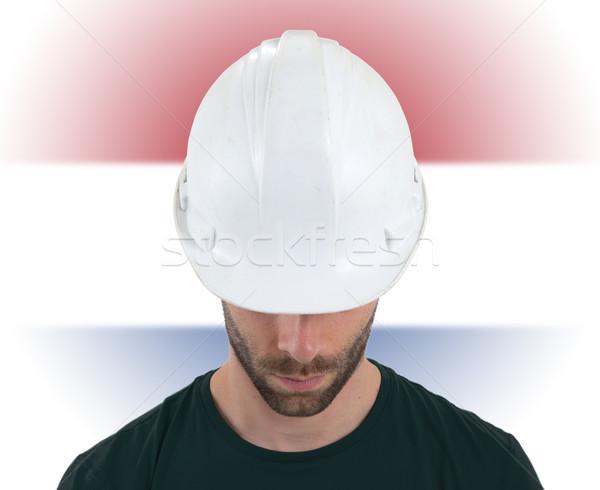 Ingegnere bandiera Paesi Bassi isolato business costruzione Foto d'archivio © michaklootwijk