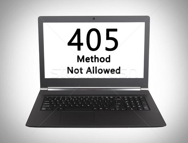 Http code methode niet toegestaan Stockfoto © michaklootwijk
