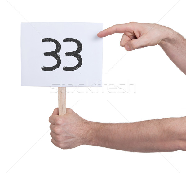 Sign with a number, 33 Stock photo © michaklootwijk