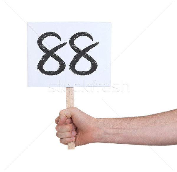 Sign with a number, 88 Stock photo © michaklootwijk