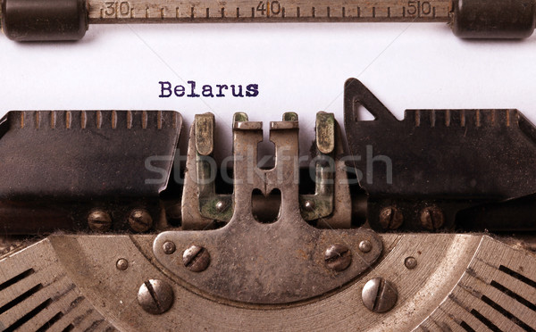 Old typewriter - Belarus Stock photo © michaklootwijk