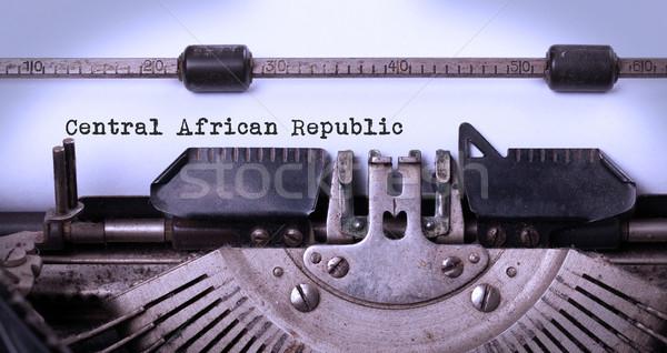 старые машинку центральный африканских республика Сток-фото © michaklootwijk