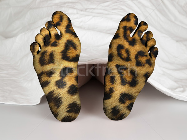 Lijk witte vel slapen dood luipaard Stockfoto © michaklootwijk