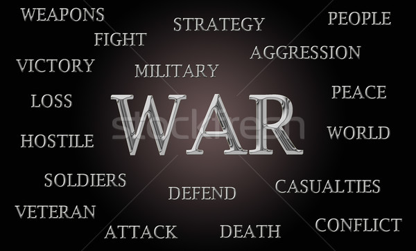 War word cloud  Stock photo © michaklootwijk