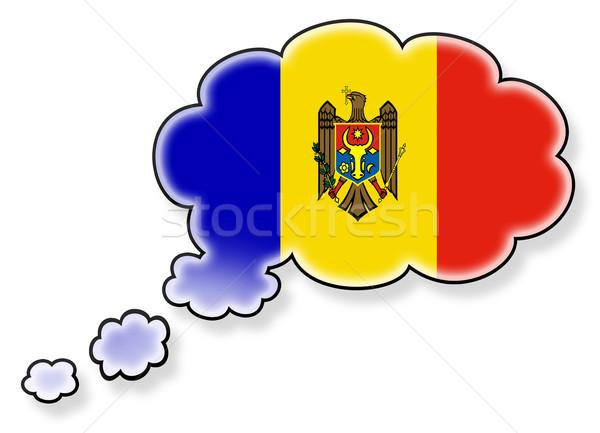 Bayrak bulut yalıtılmış beyaz Moldova sanat Stok fotoğraf © michaklootwijk
