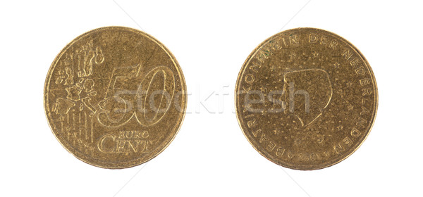 Fifty euro cent on white background Stock photo © michaklootwijk