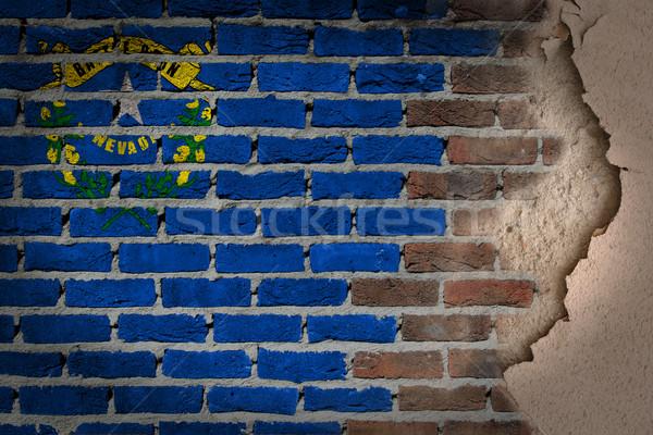 Sombre mur de briques plâtre Nevada texture pavillon Photo stock © michaklootwijk