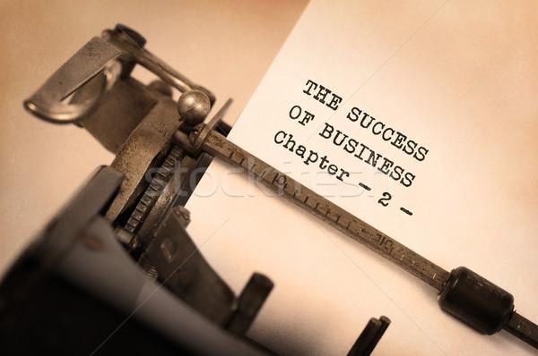 Vintage máquina de escribir edad Rusty caliente amarillo Foto stock © michaklootwijk