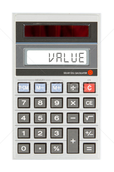 Old calculator - value Stock photo © michaklootwijk
