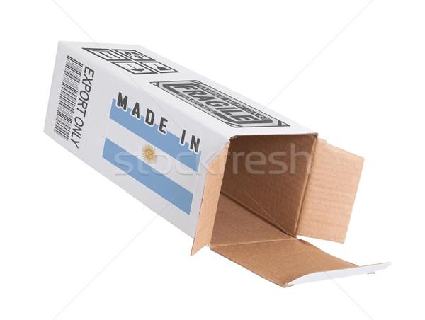 Exporter produit Argentine papier boîte Photo stock © michaklootwijk