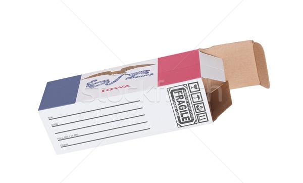 Ihracat ürün Iowa kâğıt kutu Stok fotoğraf © michaklootwijk