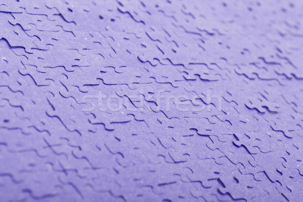 Old puzzle - Pieces connected - Purple Stock photo © michaklootwijk
