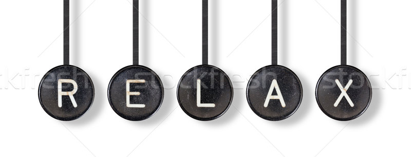 Typewriter buttons, isolated - Relax Stock photo © michaklootwijk