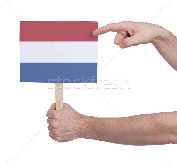Mano piccolo carta bandiera Paesi Bassi Foto d'archivio © michaklootwijk