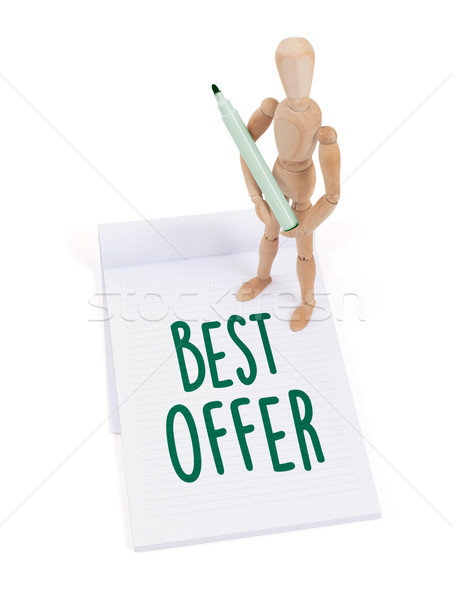 Wooden mannequin writing - Best offer Stock photo © michaklootwijk