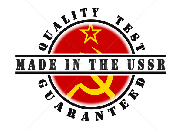 Stock photo: Quality test guaranteed stamp