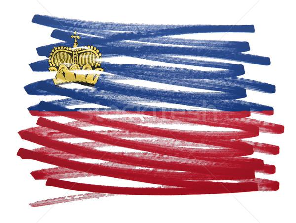 Bandiera illustrazione Liechtenstein pen business vernice Foto d'archivio © michaklootwijk