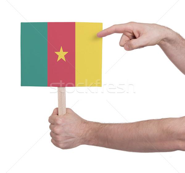 Strony mały karty banderą Kamerun Zdjęcia stock © michaklootwijk