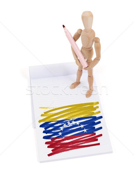 木製 マネキン 図面 ベネズエラ フラグ 紙 ストックフォト © michaklootwijk
