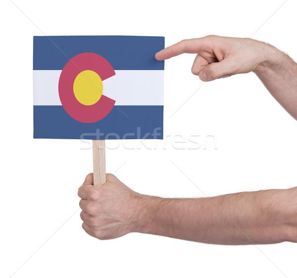 Mão pequeno cartão bandeira Colorado Foto stock © michaklootwijk