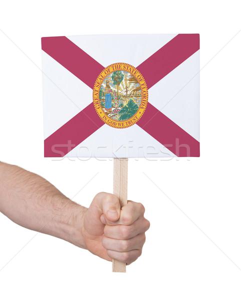 Mão pequeno cartão bandeira Flórida Foto stock © michaklootwijk